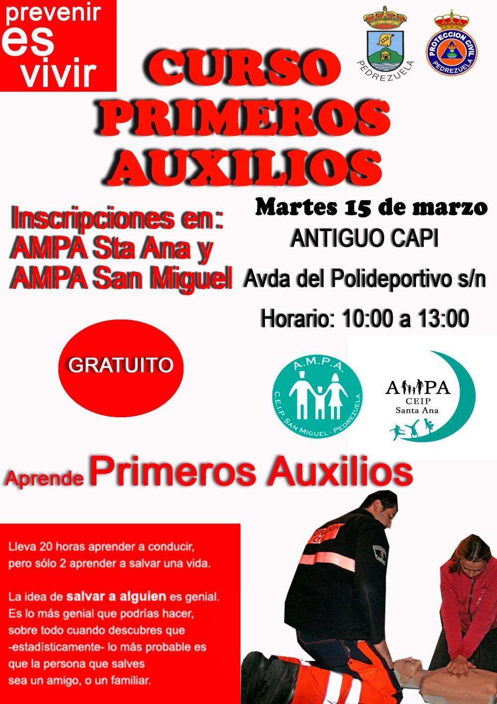 CARTEL CURSO PRIMEROS AUXILIOS 2016